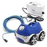 WilTec Robot Limpiador de Piscina Naia HJ1009, limpiafondos automático hasta 150 m², Aspirador 15m³/Std