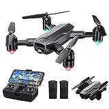 Dragon Touch Drone Plegable con Cámara 1080P HD Avión con WiFi FPV Control Remoto RC Quadcopter Drone para Adultos Niños Principiantes Modo sin Cabeza Estabilización de Altitud (DF01)