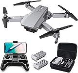 Tomzon D25 RC Drone con cámara 4K, Drone para Principiantes, Posicionamiento de la luz, Fotografía de Gestos con Las Manos, Vuelo de Ruta, Flips 3D, Modo MV, 2 Baterías, Vuelo de 24 Minu