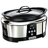 Crock-Pot SCCPBPP605-050 Olla de cocción lenta digital para preparar multitud de recetas, 230 W, 5.7 litros, Acero Inoxidable