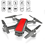 Xianxian88 FPV Drone Remoto, 1080P cámara HD Drone, Modo Fijo/sin Cabeza GPS/un botón de Retorno/Carga USB, proporcionando Regalos Divertidos para niños-Drone,Red