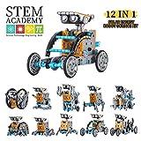 HahaGo Kit de Robótica Solar para Niños, Kit de Construcción Robotica Educativa, Juguetes 12-en-1 Edificio Educativo Juguete DIY Ciencia Experimento Kits 190pcs Conjun