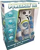 LEXIBOOK Robot Inteligente Powerman Junior Educativo e Interactivo, Lee la Mente, Baila, Toca Musica, Repite Las Frases, Mando a Distancia, Juguete a Partir de 3 años, Azul/Blanco (ROB20ES), Col