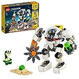 LEGO 31115 Creator 3en1 Meca Minero Espacial, Robot o Transportador de Carga, Juguete de Construcción para Niños y Niñas +8 Años