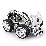 SUNFOUNDER Raspberry Pi Smart Video Robot Car Kit para Raspberry Pi, admite Control de código Ezblock / Python y Control Web. Kits de Robot Raspberry Pi electrónicos multifuncionales para Bricolaje