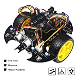 Kit de robot de proyecto de iniciación electrónica con Arduino, para proyecto de graduación [seguimiento de línea, evasión de obstáculos, ultrasónico con tutorial]