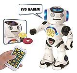 LEXIBOOK Powerman: el Robot Educativo Inteligente para Jugar y Aprender, Baila, Canta, Cuenta Chistes, Mando a distanc Distancia, Color Blanco (ROB50ES)