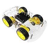 The perseids Smart Robot Car Chassis, 4WD Chasis Robot Arduino, Kit de chasis para Coche, 4 Ruedas con Encoder de Velocidad para Arduino DIY