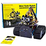 KEYESTUDIO Robot Coche Kit Compatible con Arduino IDE con Módulo de Seguimiento de Línea, Sensor Ultrasónico, Módulo IR, Kit Robótico Coche Educativo Stem para Niño, Adul