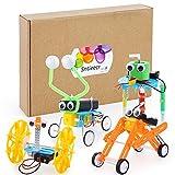 Sntieecr 4 Set Kit de Robótica para Niños, Kit de Construcción Robotica Educativa para Juguetes Electrónicos Stem Robots Bricolaje