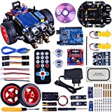 KINCREA Smart Robot Car Kit for Arduino R3 with Line Tracking Module,Ultrasonic Sensor,IR Remote Control Module and Android Bluetooth App Control JK11