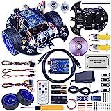 Quimat Robotica para Niños, Robots para Montar y Programar Compatible con ArduinoIDE con Tutorial de Vídeo en Castellano,UNOR3 Board, Control Remoto (QS10)
