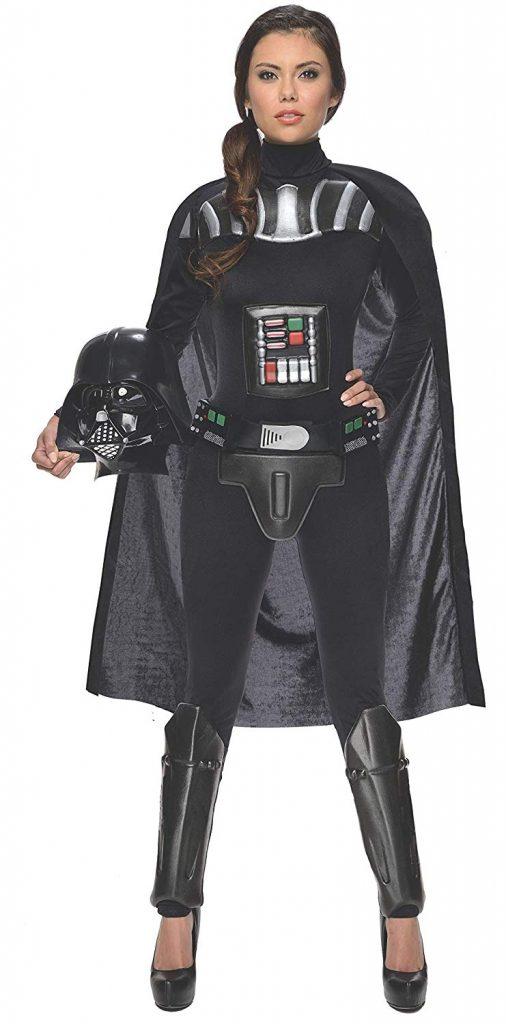 Disfraz trajede Darth Vader el malo de la trilogía de La Guerra de las Galaxias (Star Wars) para mujer adulta Halloween