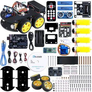 ELEGOO UNO R3 Kit de Coche Robot Inteligente V3.0 Compatible con Arduino IDE, con Módulo de Seguimiento de Línea, Sensor Ultrasónico