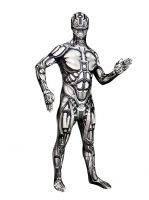Disfraz de robot androide adulto morphsuit